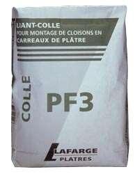 Image produit COLLE CARREAUX DE PLATRE PF3 25 KGS