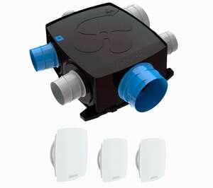 Image produit KIT AUTOCOSY IH FLEX VMC AUTO  INTELLIGENTE PLAT 4 SANITAIRES (3 BOUCHES LINE) - 412290